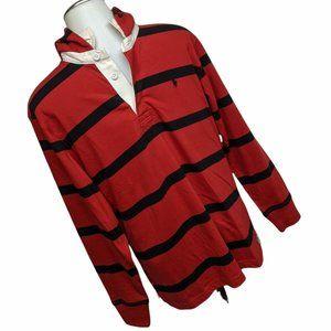 POLO Ralph Lauren Collar Hooded Shirt Stripes L